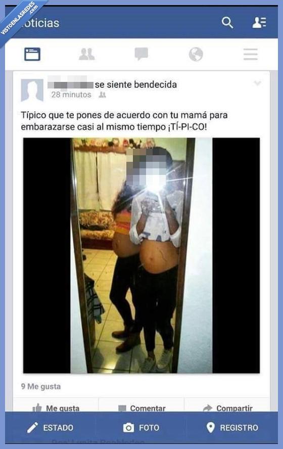 embarazadas,facebook,hija,madre,tipico