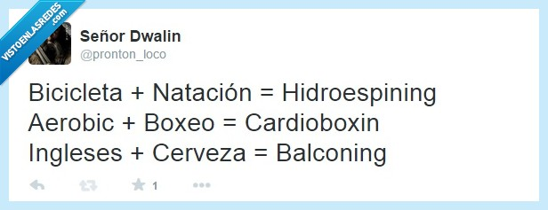 aerobic,balconin,balconing,bicicleta,boxeo,cardioboxin,cerveza,hidroespining,ingleses,natacion
