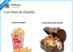 Enlace a Los cines en España van así por @FrikiRatos