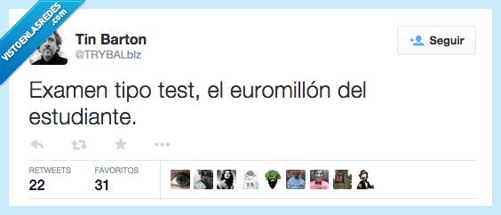 a suertes,azar,estudiantes,euromillones,examen,test