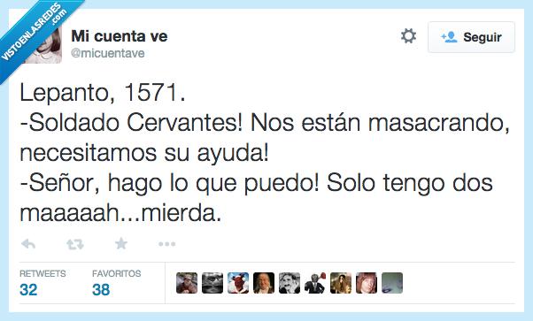 ayuda,Cervantes,lepanto,manco,manos,masacrando,soldado