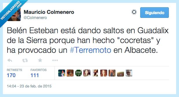 Albacete,Belén Esteban,cocretas,croquetas,GHVIP,Godzilla,gorda,Gran hermano,Guadalix,motivo,saltos,Sierra,terremoto