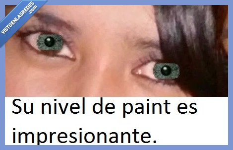 fail,guapa,lentillas,montaje,natural,ojos,paint,photoshop,verdes