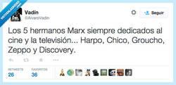 Enlace a Los cinco hermanos Marx por @AlvaroVadin