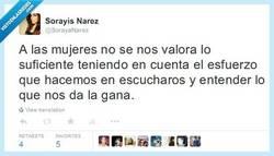 Enlace a No nos valoráis por @SorayaNarez