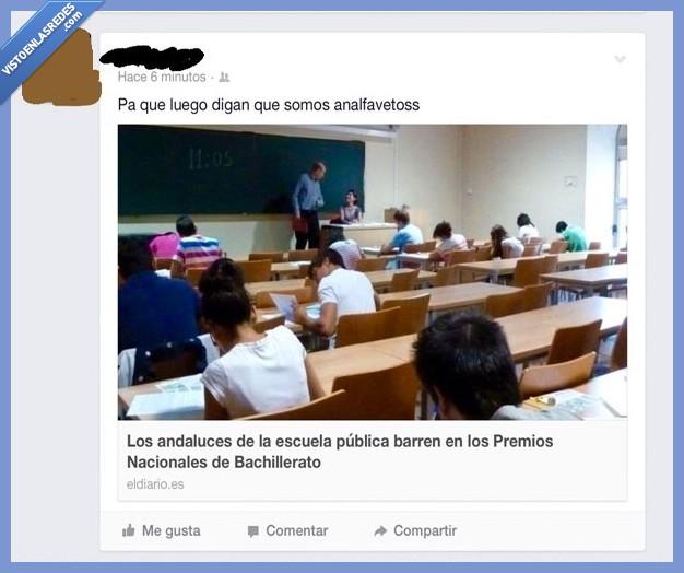 Analfabetos andaluces,analfaveto,diccionario,ironía,patadas,selectividad