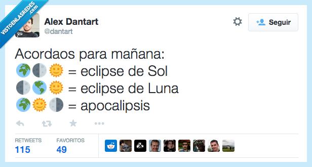 apocalipsis,eclipse,emoticonos,luna,mañana,orden,planeta,posicion,sol,tierra
