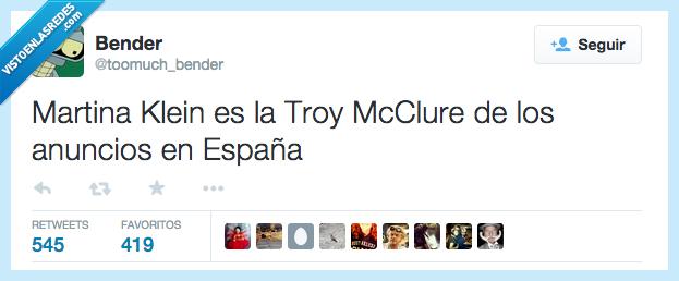 anuncios,es,España,Martina Klein,ser,Troy McClure