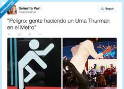 Enlace a Así daría gusto ir en metro :D por @SenoritaPuri