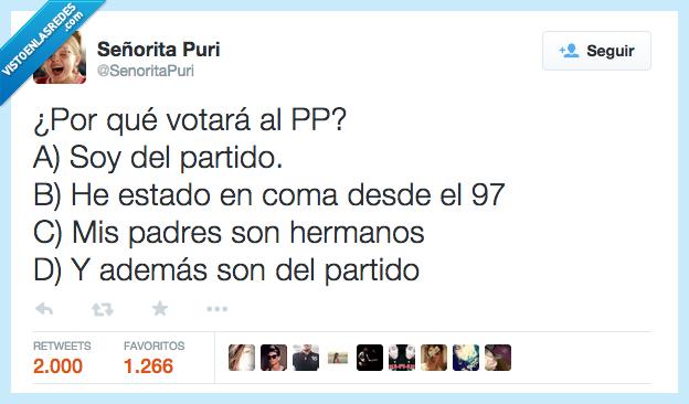 además,coma,estado,estar,hermanos,padres,partido,Por qué,PP,ser,son,soy,votar,votará