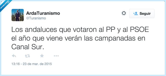 Andaluces,aprender,Canal Sur,elecciones andaluzas,error,PP,PSOE,votar