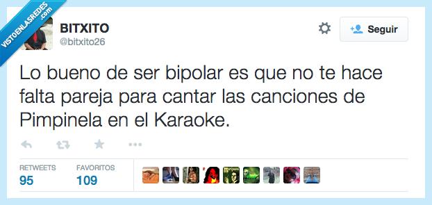 bipolar,bueno,canciones,cantar,dos,falta,karaoke,pareja,Pimpinela,ser,voces