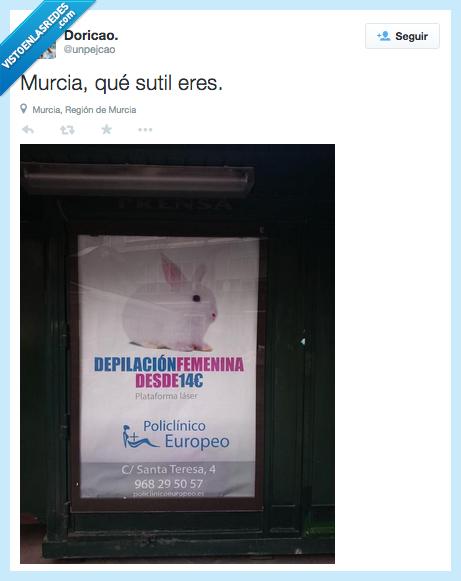 conejo,depilación,epic,femenina,mujer,Murcia,publicidad,sútil