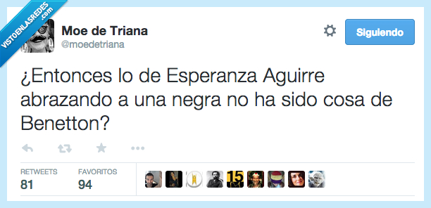 anuncio,benetton,Esperanza Aguirre,foto,negra,publicidad,señora