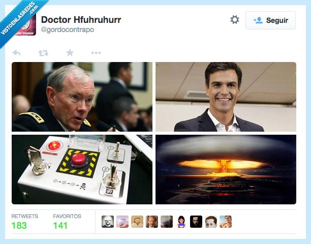 aborto,bomba,boton,destruir,error,hongo,nuclear,Pedro Sanchez,tocar,voto