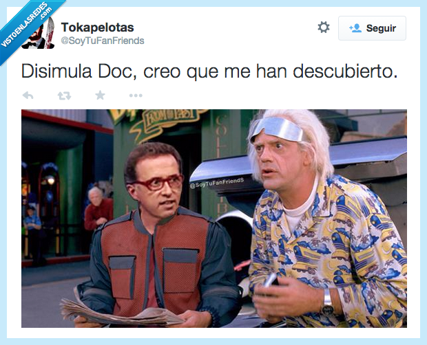 Back to the future,descubierto,disimula,doc,inmortal,Jordi Hurtado,Marty McFly,Regreso al futuro