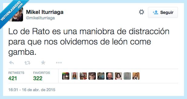 come,distracción,gamba,leon,leon come gamba,maniobra,politica,Rato,Rodrigo