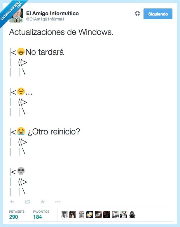 actualizaciones,actualizar,eterno,impaciencia,morir,tardar,tardará,Windows