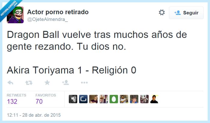 Akira Toriyama,dios,Dragon Ball,gente,nueva serie,puntos,religion,rezando,rezar