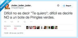 Enlace a En general, a cualquier bote de Pringles por @HijadeHelghan