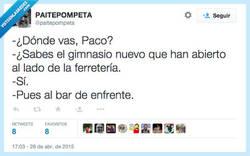 Enlace a Yo sólo levanto jarras de cerveza por @paitepompeta