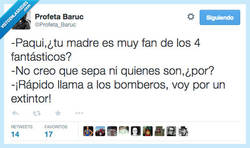 Enlace a Tu madre está on fire por @Profeta_Baruc
