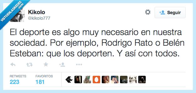 algo,Belen Esteban,deporte,deporten,necesario,Rodrigo Rato,sociedad