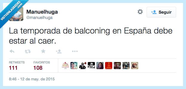 balconing,cae,caer,debe,deber,España,estar,temporada