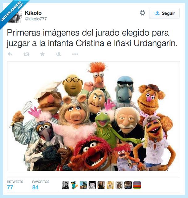 Cristina,imagen,Iñaki Urdangarin,Infanta,marioneta,muñeco,primera,teleñeco