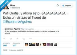 Enlace a Esta @EsperanzAguirre cada día propone cosas más molonas por @diostuitero