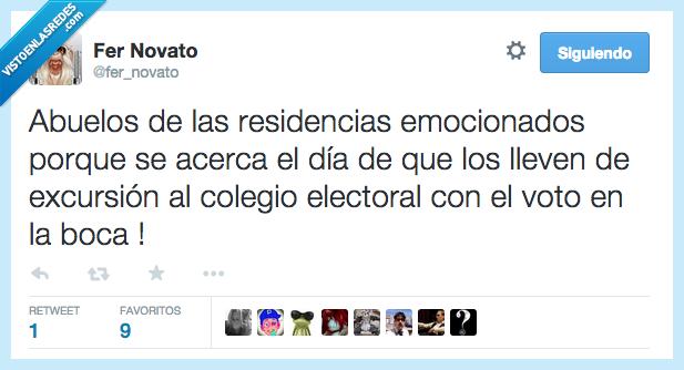 abuelo,boca,colegio,electoral,excursion,residencia,vergüenza,votar,voto