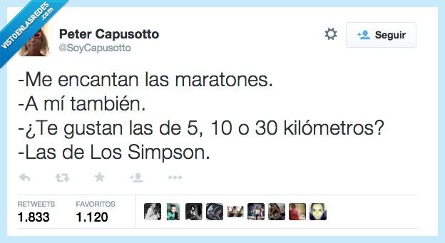 carrera,correr,kilometros,Los Simpson,maraton,Maratones