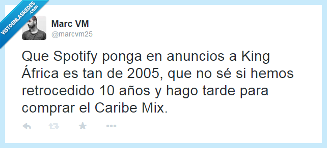 2005,anuncio,Caribe Mix,King Africa,poner,ponga,spotify,tarde,verano