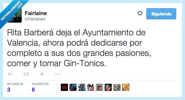 abandona,ayuntamiento,comer,completo,dejar,dimision,dimite,gintonics,pasiones,Rita Barbera,Valencia