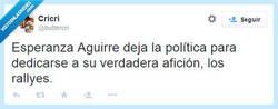 Enlace a Esperanza Aguirre sigue su sueño por @buttercri