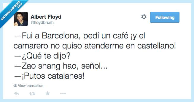 bar,barcelona,café,castellano,catalan,Cataluña,china,chino,español,idioma,invasión,topico