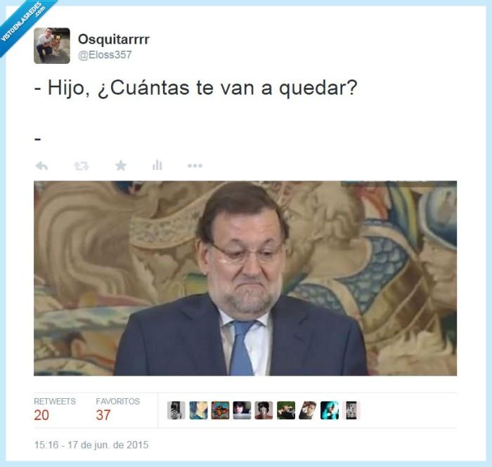 cuantas,mariano,no se,notas,partido popular,pp,quedar,Rajoy,suspender,suspenso