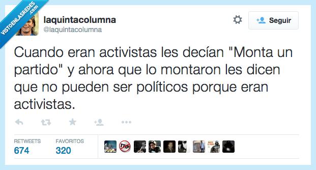 activista,crear,manifestacion,montar,partido,podemos,politica,politico