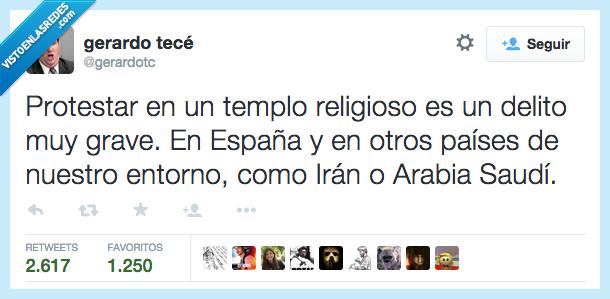 Arabia Saudi,delante,delito,dentro,entorno,España,extremista,grave,iglesia,Iran,muy,pais,protestar,religioso,templo