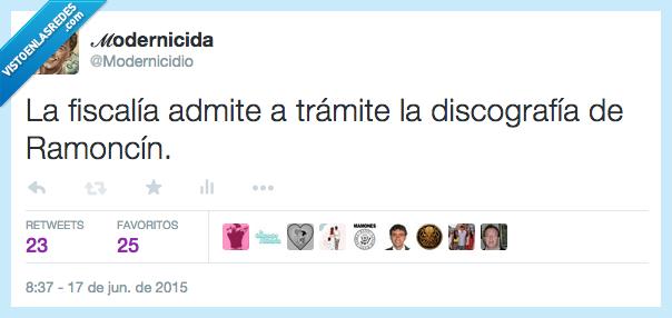discografía,fiscalía,modernicidio,Ramoncín,trámite