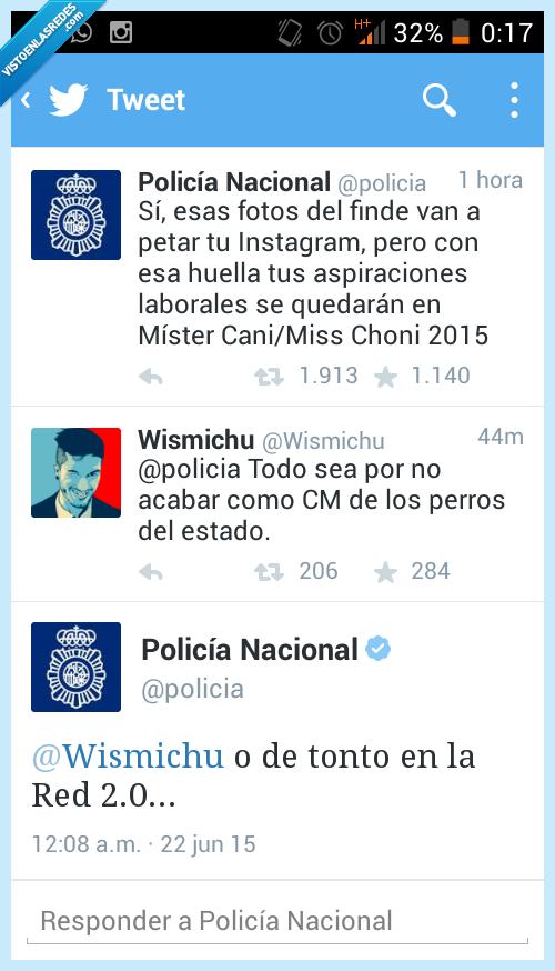 417232 - Duelo de zascas entre @wismichu y @policia