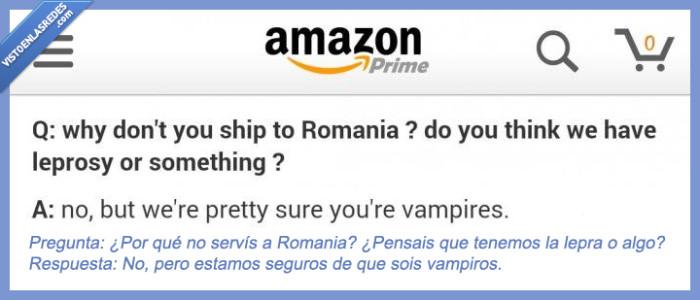 Amazon,envio,preguntar,preguntas,Romania,Rumania,servir,shipping,Vampiros