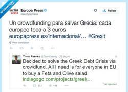 Enlace a Si todos ponemos 3€ salvamos a Grecia, idea de @ThomFeeney