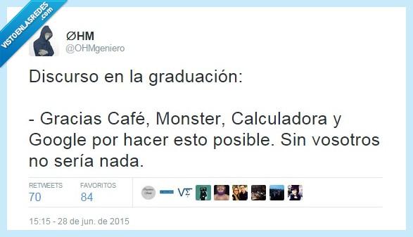 cafñe,calculadora,estudiar,google,graduación,humor,monster,ohm,ohmgeniero,twitter