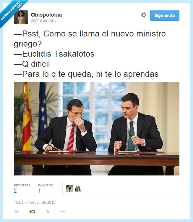 aprendas,aprender,Corralito,Euclidis Tsakalotos,Euro,Grecia,Mariano Rajoy,ministro,nuevo,Pedro Sanchez,queda
