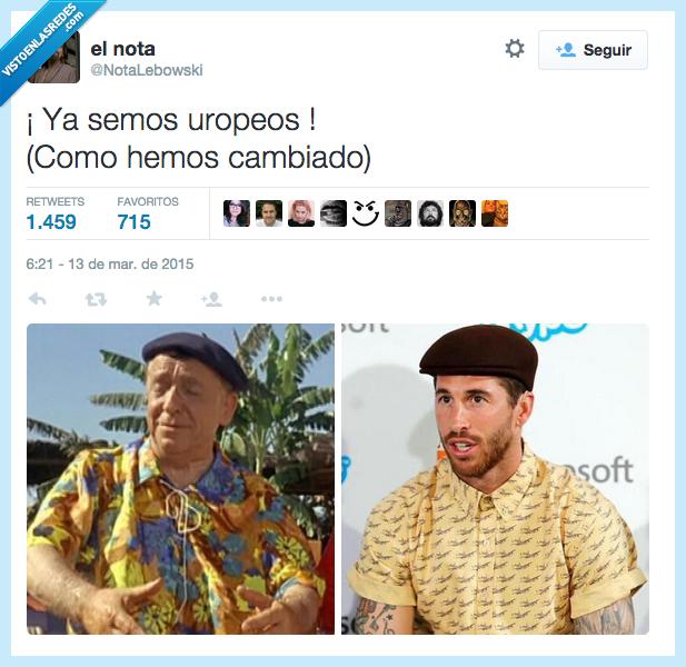 boina,cambiado,cambiar,europeos,Paco Martínez Soria,pintas,señor,Sergio Ramos,viejo