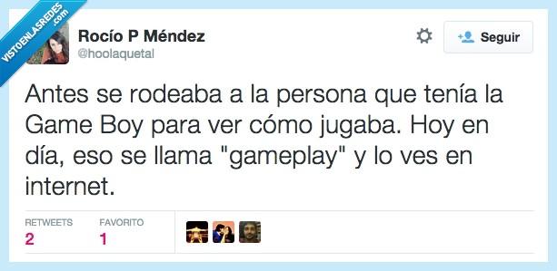 game boy,GameBoy,gameplay,internet,niño,Twitter,videojuegos,Youtube