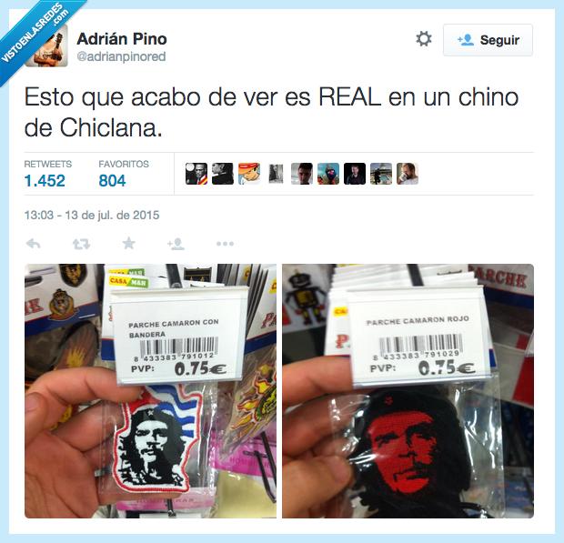 bandera,Camaron,che,Che Guevara,Chiclana,china,chino,incultos,listos,parche,rojo