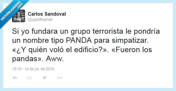 edificio,fundar,grupo terrorista,panda,pandas,volar