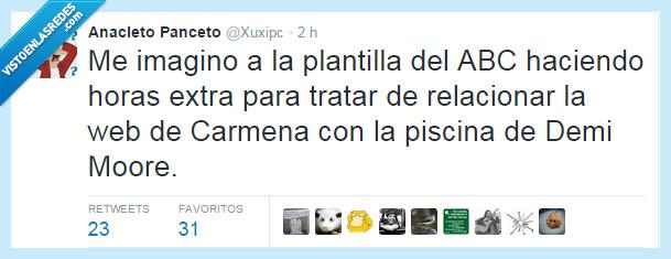 ABC,culpa,culpar,Demi Moore,España,gobierno,Manuela Carmena,periódico,piscina,plantilla,política,relacionar